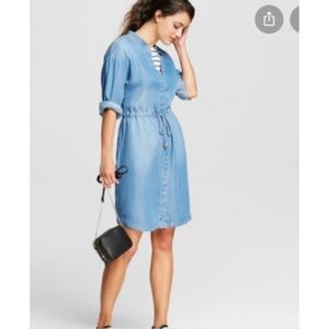 A NEW DAY | chambray shirt dress